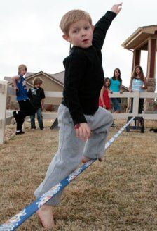 Slackline for beginners -35 Gifts that Inspire Adventure in kids