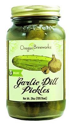 Garlic Dill Pickles Raw Fermented Probiotic Organic 24 Oz -- Details can be found by clicking on the image.