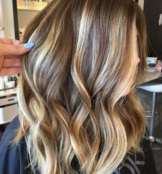 Dark blonde balayage