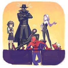 Safebooru is a anime and manga picture search engine, images are being updated hourly. Bd Comics, Marvel Dc Comics, Marvel Heroes, Marvel Avengers, Spider Art, Spider Verse, Spider Gwen, Marvel Jokes, Marvel Funny