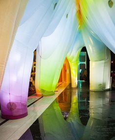 friendswithyou inflates vibrant light cave at the standard hotel in NYC