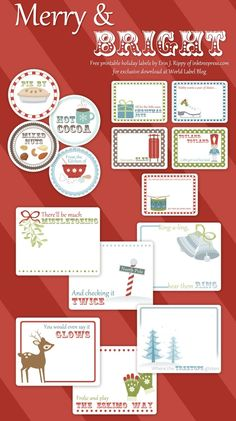 Free printable Holiday labels On Worldlabel by InkTreePress.com