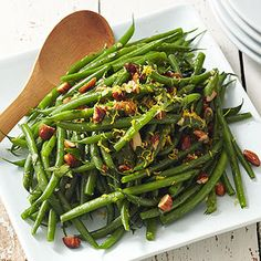 Green Beans with Almonds From Better Homes and Gardens, ideas and improvement projects for your home and garden plus recipes and entertaining ideas.