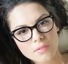 50 s Vintage Retro Style Black Frame Women Cat Eye Sexy Eyeglasses Glasses HOT