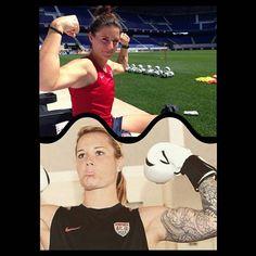 """These muscels! Damn it!  #muscels#damnit#damn#uswnt#alikrieger#ashlynharris#goalkeeper#defender#soccer#womansoccer#womensoccer#train#training#work#hardwork#workforit#boxen#arms#sleeve#worthless#worthit#dream#perfection#perfect"" Photo taken by @ashlyn_harrisfan24 on Instagram, pinned via the InstaPin iOS App! http://www.instapinapp.com (09/02/2015)"