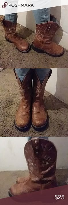 Boots.. Ariat fatbaby saddle Stylish.. resistant.. durable ..pull up boots. Ariat Shoes
