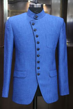 Blue Classy Bandh Gala Jacket