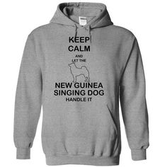 Keep calm and let the NEW GUINEA SINGING DOG handle it - #boyfriend gift #anniversary gift. WANT => https://www.sunfrog.com/Pets/Keep-calm-and-let-the-NEW-GUINEA-SINGING-DOG-handle-it-lvicm-SportsGrey-5874377-Hoodie.html?id=60505