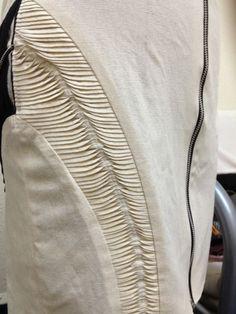 Innovative Pattern Cutting - panelled skirt design with slim wave tucks; creative sewing; fabric manipulation // Ersalina Lim by Alicia Mariela