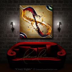 "Someday I will have a piece if artwork by her...""Crazy Eights"" by wine artist © Leanne Laine Fine Art"