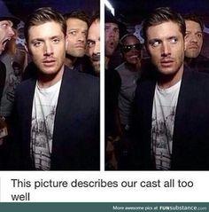 Funny Supernatural Posts That Remind You It's The Best Show Ever (Episode Supernatural Destiel, Supernatural Crossover, Jensen And Misha, Jensen Ackles, Winchester Boys, Julie, Film Serie, Superwholock, Best Shows Ever