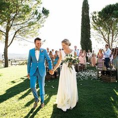 That blue suit though  #theknot #regramsunday  via @lmaddenphoto