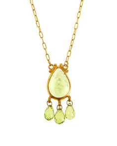 Shop Triple Drop Peridot Necklace from Gurhan at Neiman Marcus Last Call, where you'll save as much as on designer fashions. Peridot Jewelry, Peridot Necklace, Gold Necklace, Pendant Necklace, Last Call, Clearance Sale, Neiman Marcus, Drop, Luxury