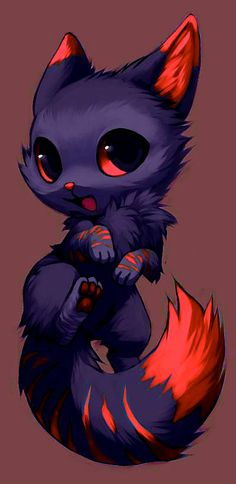 The trihexa destroys the planet earth … issei and the factions couldn't … # Fanfic # amreading # books # wattpad Cute Animal Drawings, Kawaii Drawings, Cute Drawings, Cute Fantasy Creatures, Mythical Creatures Art, Beautiful Wolves, Fox Art, Anime Animals, Cute Pokemon