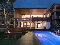CplusC Architectural Workshop have designed the Tennyson Point #Residence in Sydney, #Australia.