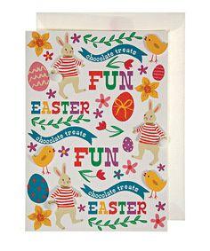 Take a look at this Meri Meri Easter Motif Greeting Card by Meri Meri on #zulily today!