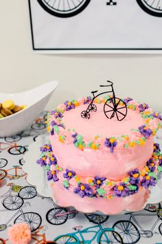 Bicycle cake from a Bike Themed Birthday Party on Kara's Party Ideas   KarasPartyIdeas.com (14)