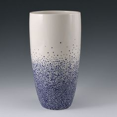 Tall Sapphire Blue Pebble Vase by kimwestad on Etsy, $175.00