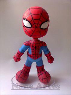 Spider man a special person. Polymer Clay Figures, Polymer Clay Charms, Polymer Clay Art, Clay Projects, Clay Crafts, Baby Spiderman, Spiderman Pasta, Superman, Batman