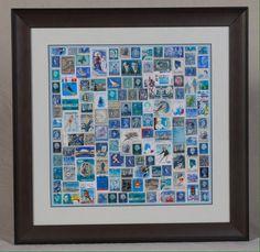 Vintage postzegel collage, passe-parttout, lijst van Creatief cafe op DaWanda.com