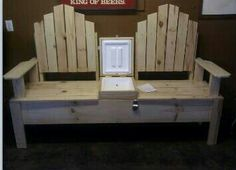 Double seat with ice chest