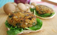 Savory Mushroom and Rice Burgers [Vegan, Gluten-Free] | One Green Planet