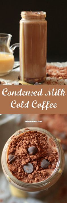 This Condensed Milk Mocha Cold Coffee is the perfect cool, thirst quenching drink for summer!