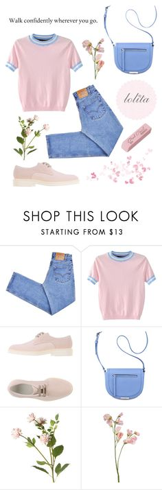 """Pretty Persuasion ♡"" by silvercherryblossom ❤ liked on Polyvore featuring Levi's, WithChic, Chloé, Nine West and OKA"