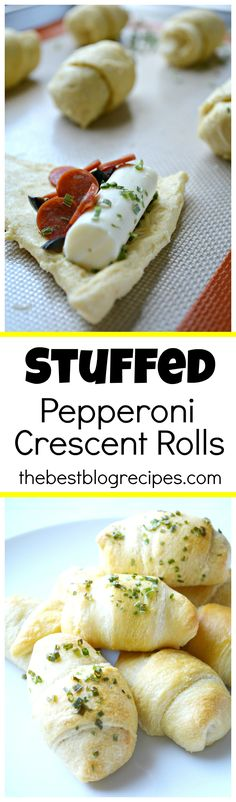 Stuffed Pepperoni Pizza Crescent Rolls are so easy to make, there is minimal cle… – Gesundes Abendessen, Vegetarische Rezepte, Vegane Desserts, Crescent Roll Recipes, Crescent Rolls, Crescent Roll Pepperoni Rolls, Pepperoni Pizza Dip, Turkey Pepperoni, I Love Food, Good Food, Yummy Food, Fun Food