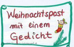 Drei Ideen für die (Weihnachts-) Post an liebe Menschen -mit kostenlosem Freebie! Weihnachten Post Briefpost oldschool vintage retro Gedicht Goodie