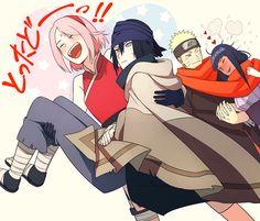 sasusaku: I'll save my ship! naruhina: I'll get warm and toasty under this red ship of love