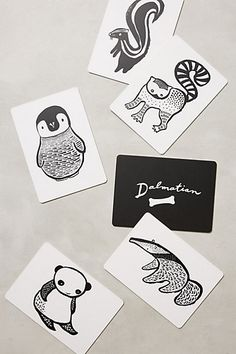 Animal Art Cards for Baby by Wee Gallery - anthropologie.com