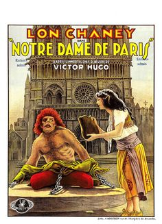 The Hunchback of Notre Dame (1923) Lon Chaney, Patsy Ruth Miller - French silent film poster