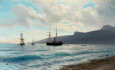 Lev Lagorio - Ships by the coast (1883)