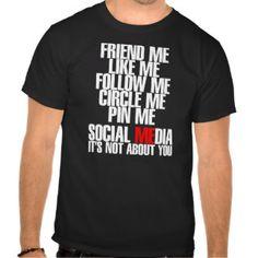 Social Media T-shirts, Shirts and Custom Social Media Clothing