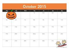 october calendar 2015 template