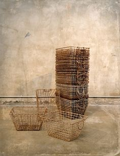 vintage wire baskets--likely from a locker room!