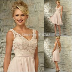 Cheap dress raincoat, Buy Quality dresses hot directly from China dress women Suppliers:  Wedding Party Dress 2015 New Arrival Beautiful A Line Party Dresses Cheap Short Lace Bridesmaid Dresses