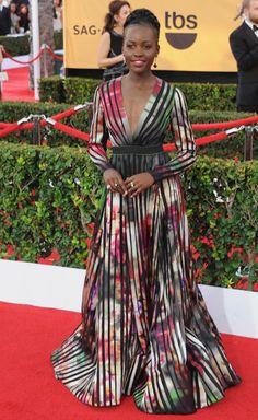 Lupita Nyong'o at the SAG Awards - Elle