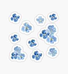 Little Blue Flowers ~ Stickers by ApricotBlossom Bubble Stickers, Phone Stickers, Journal Stickers, Cool Stickers, Printable Stickers, Planner Stickers, Blue Flower Wallpaper, Scrapbooking Stickers, Homemade Stickers