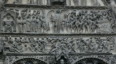 Tympanum of the Last Judgement,  Bourges Cathedral, 1270    http://professor-moriarty.com/info/en/section/sculpture/gothic-sculpture-tympanum-last-judgement-bourges-cathedral