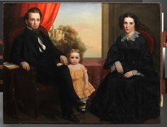 A Family Group  Date:ca. 1850 Medium:Oil on canvas