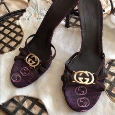 Authentic Gucci sandals Chocolate brown sext satrapy sandals worn 3 times excellent condition Gucci Shoes Sandals