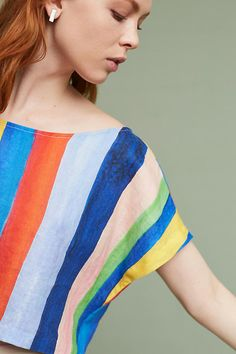 Slide View: 2: Watercolor Cropped Top