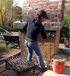 Lyford Wood Fired Brick Pizza Oven in California - BrickWood Ovens Pizza Oven Kits, Diy Pizza Oven, Wood Fired Pizza, Firewood, Brick, California, Outdoor Kitchens, Ovens, Outdoor Decor