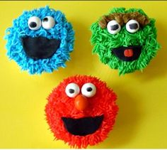 Creation Cupcakes: Cupcakes For All Occasions, Corporate Event Cupcakes, Party Cupcakes, Shower Cupcakes and More! Sesame Street Birthday Cakes, Sesame Street Cupcakes, Sesame Street Party, Cakepops, Character Cupcakes, Elmo Party, Fondant Toppers, Cute Cupcakes, 2nd Birthday