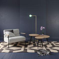 design salontafel modern hout eiken zit zwart staal