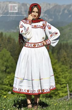 Popular Folk Embroidery Romanian Folk Costume from Oas area worldwide shipping Folk Embroidery, Embroidery Designs, Floral Embroidery, Romanian Women, Costumes For Sale, Folk Costume, Peasant Blouse, Embroidery Techniques, Traditional Dresses