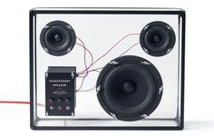 Transparent speakers by People people  via home in HEL