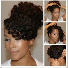 Post A Picture of how you eventually want your hair to look. - Page 21 - Long Hair Care Forum Post A Picture of how you eventually want your hair to look. - Page 21 - Long Hair Care Forum Pelo Natural, Natural Hair Updo, Natural Hair Care, Natural Hair Styles, Wavy Updo, Natural Curls, Bangs Updo, Curly Braids, Curly Ponytail